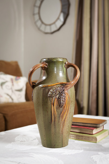 Three Handled Pine Vase Ephraim Pottery