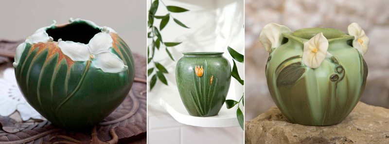 Woodland Trillium Vase, Wild Tulip Vase & Glorious Morning Vase