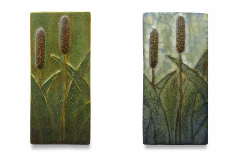 Marsh Cattail Tile 2.5x5