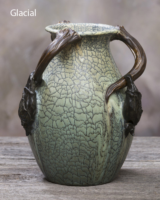Sleepy Hollow Vase - Ephraim Pottery on glass liner, sugar liner, jar liner, frame liner, basket liner,