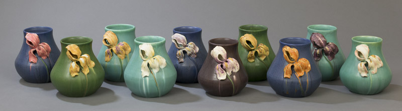 Iris Vases completed during the July 1 workshop