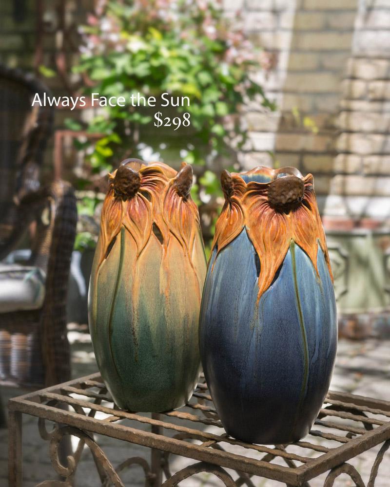 Sunflower Vases