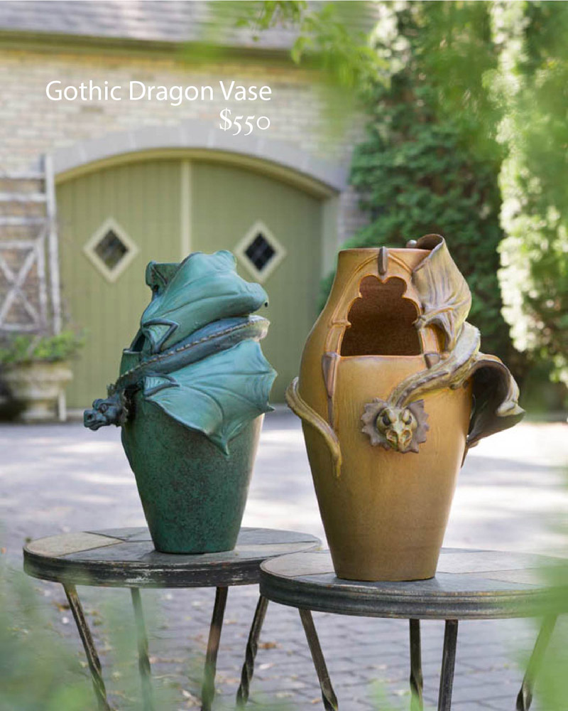 dragon vases