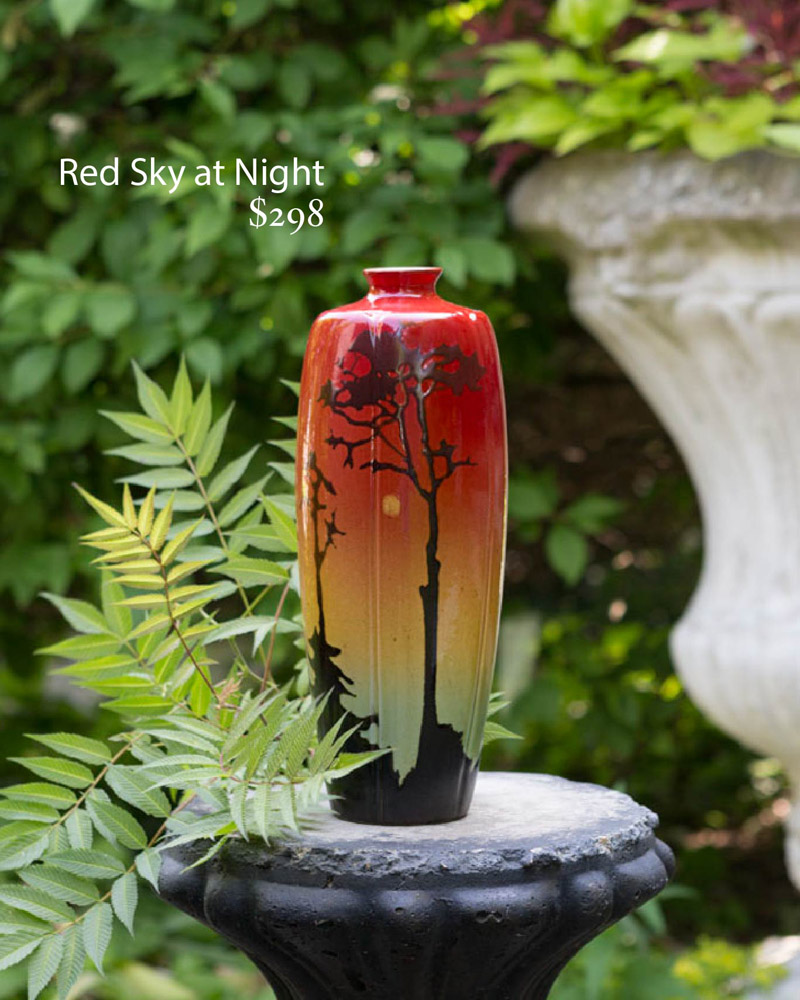 Sunset scenic vase.