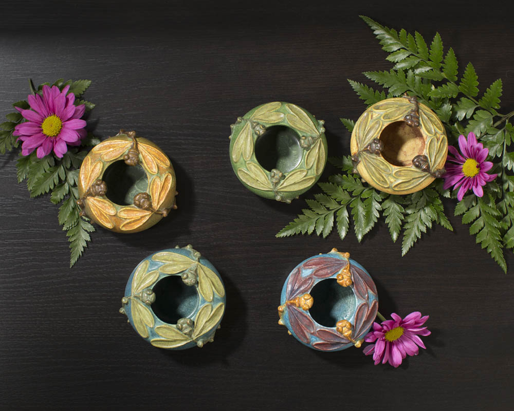 Five new limited-edition Miniature Dancing Dragonflies Bowl from Ephraim Pottery