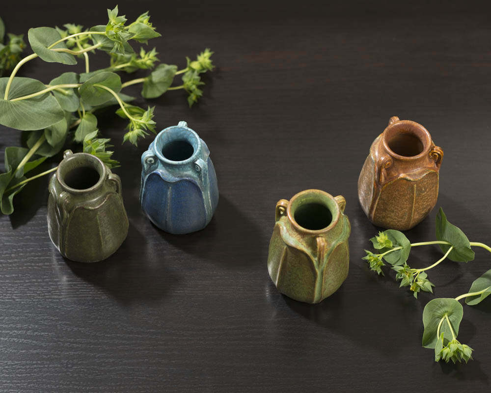 Four new limited edition Miniature New Frond Vases from Ephraim Pottery