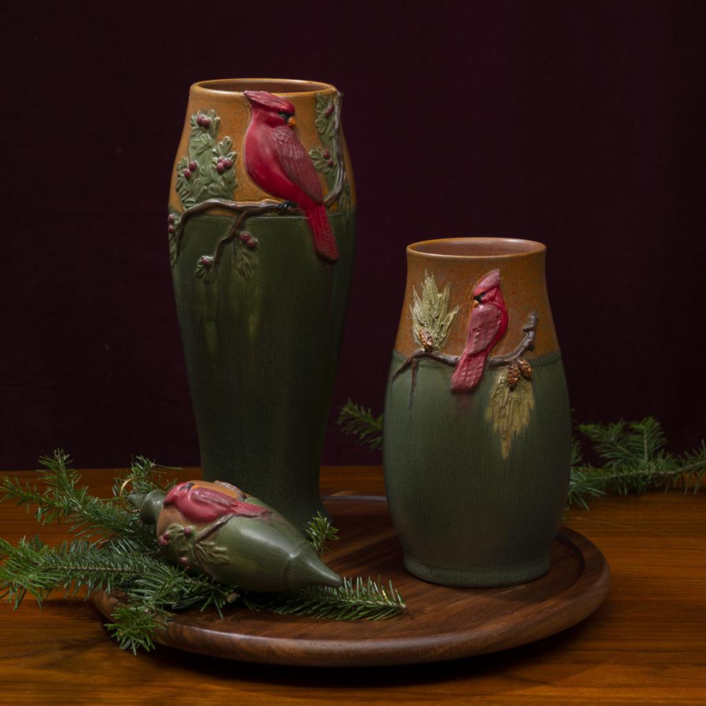 Winter Songbird Vase, Winter Songbird Ornament, Eyecatcher Vase